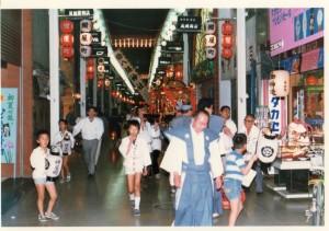 昔の八坂神社のお祭り